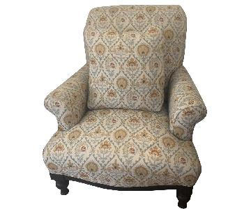 Raymour & Flanigan Patterned Accent Chair w/ Pillows