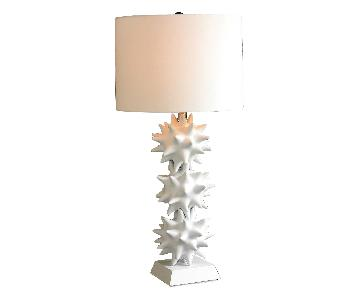 DwellStudio White Stacked Urchin Lamp