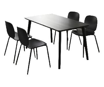 Ikea Lisabo Dining Table & 4 Chairs