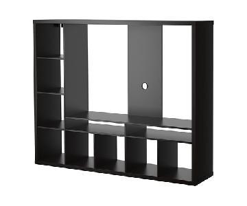 Ikea Lappland TV Storage Unit w/ 4 Wooden Cubes