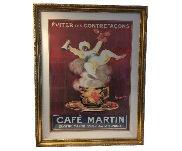 Vintage Cafe Martin 1920s French Poster
