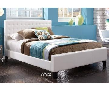 Faux Leather Tufted Full-Size Platform Bed