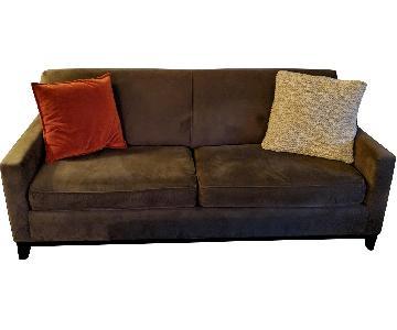 Raymour & Flanigan Microsuede Sofa