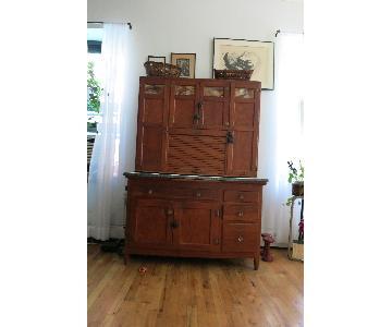 Vintage Hoover Storage Cabinet