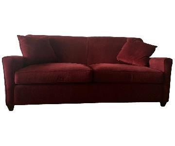 Jennifer Convertibles Gale Burgundy Sofa