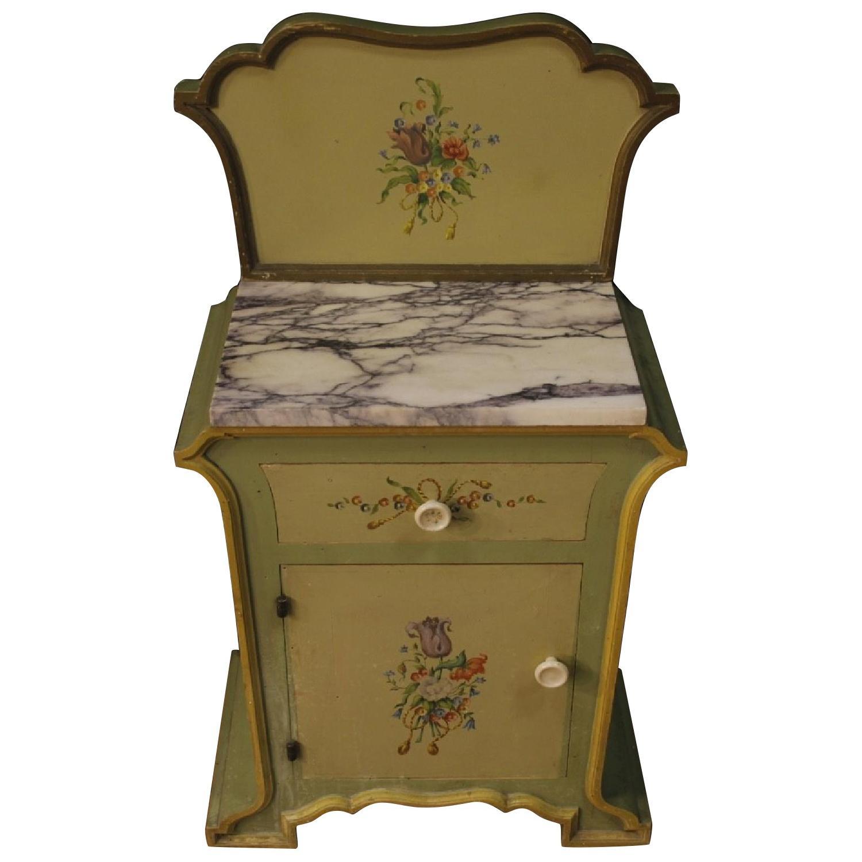 Art Nouveau Style Italian Painted Bedside Tables