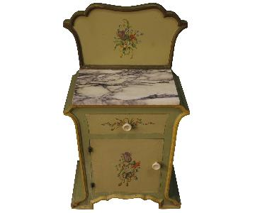 Art Nouveau Style Italian Painted Bedside Tables