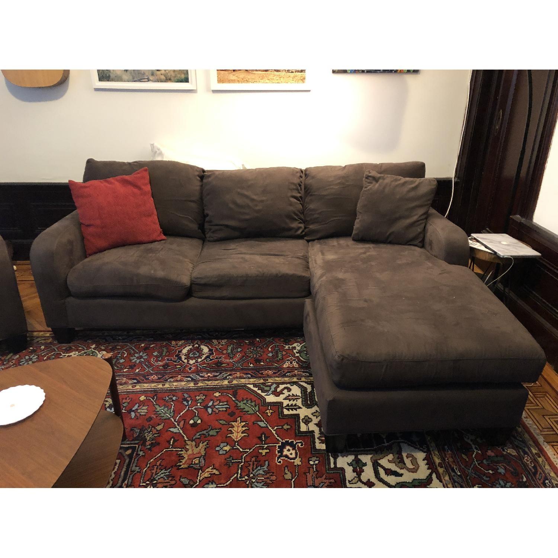 Raymour & Flanigan Bailey Reversible Sectional Sofa & Chair-1