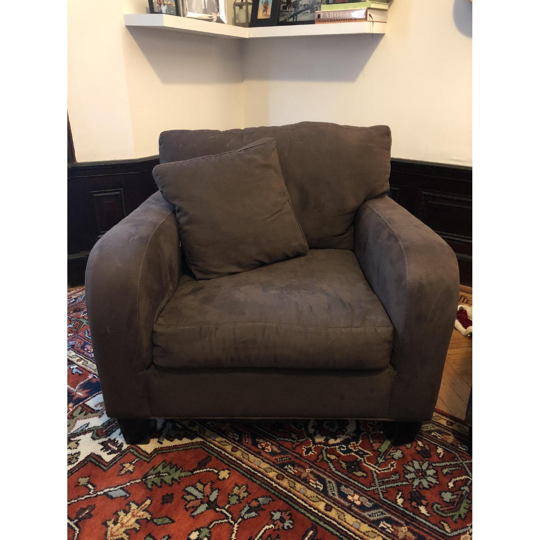 Raymour & Flanigan Bailey Reversible Sectional Sofa & Chair-2