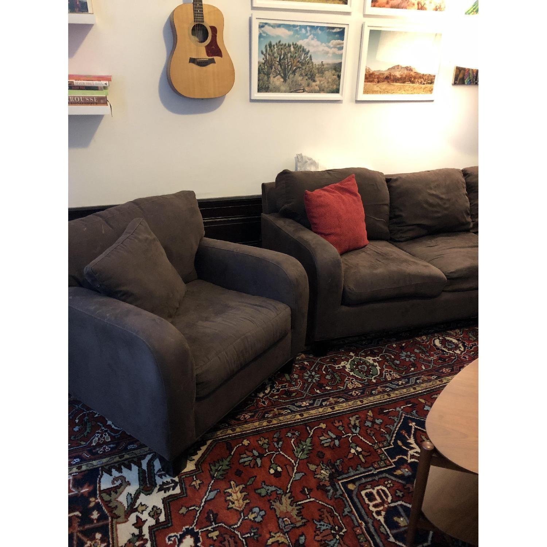 Raymour & Flanigan Bailey Reversible Sectional Sofa & Chair-3