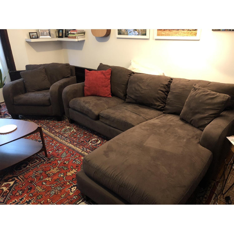 Raymour & Flanigan Bailey Reversible Sectional Sofa & Chair-4
