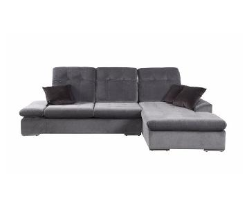 Concorde Microfiber Sectional Sofa w/ Chaise
