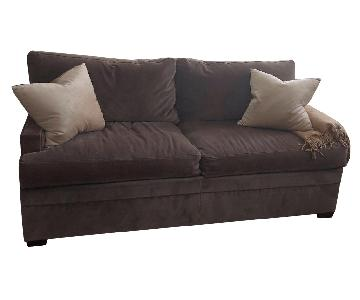 Baker Grey Velvet Sofa