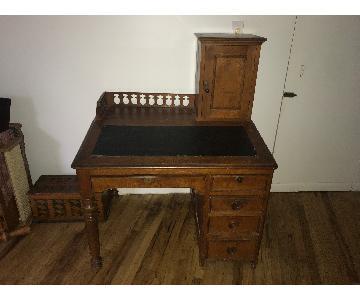 19th Century Victorian Oak Writing Desk