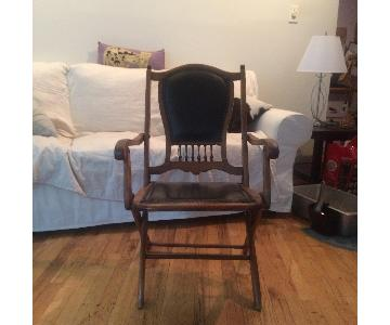 Victorian Oak Folding Chair