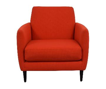 CB2 Parlour Chair in Atomic Orange