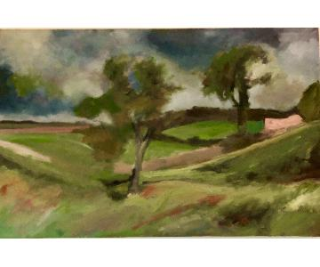 Impressionistic Landscape Signed Oil Painting