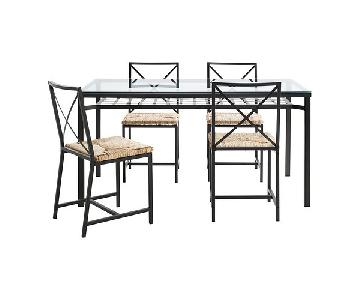 Ikea Granas Glass Dining Table w/ 4 Chairs