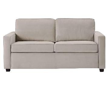West Elm Henry Dove Grey Performance Velvet Sofa
