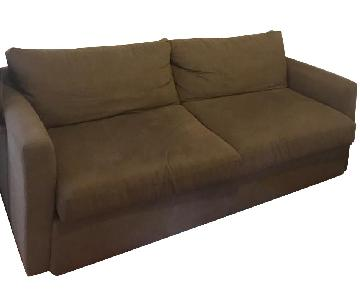 Tan Queen Pull-Out Sleeper Sofa
