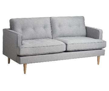 World Market Dove Gray Alpine Sofa