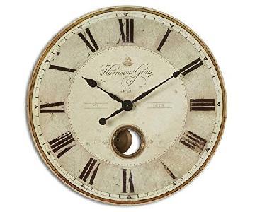 Uttermost Harrison Grey Wall Clock