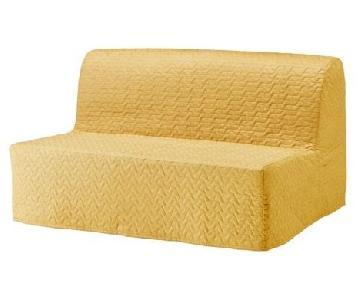 Ikea Lycksele Lovas Sleeper Sofa in Gold