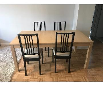 Ikea Extendable Dining Table w/ 4 Chairs