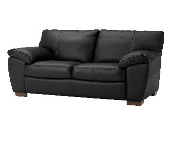 Ikea Black Faux Leather Sleeper Sofa