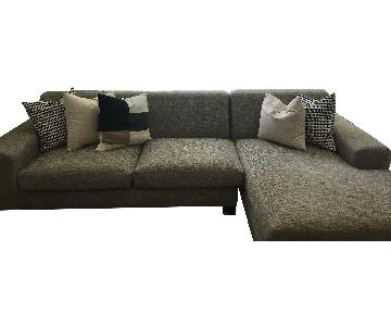 Grey 2 Piece Sectional Sofa w/ Chaise