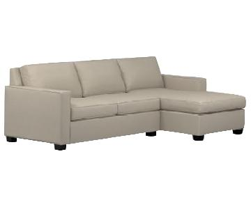 West Elm Henry Right Chaise Sectional Sofa in Grey