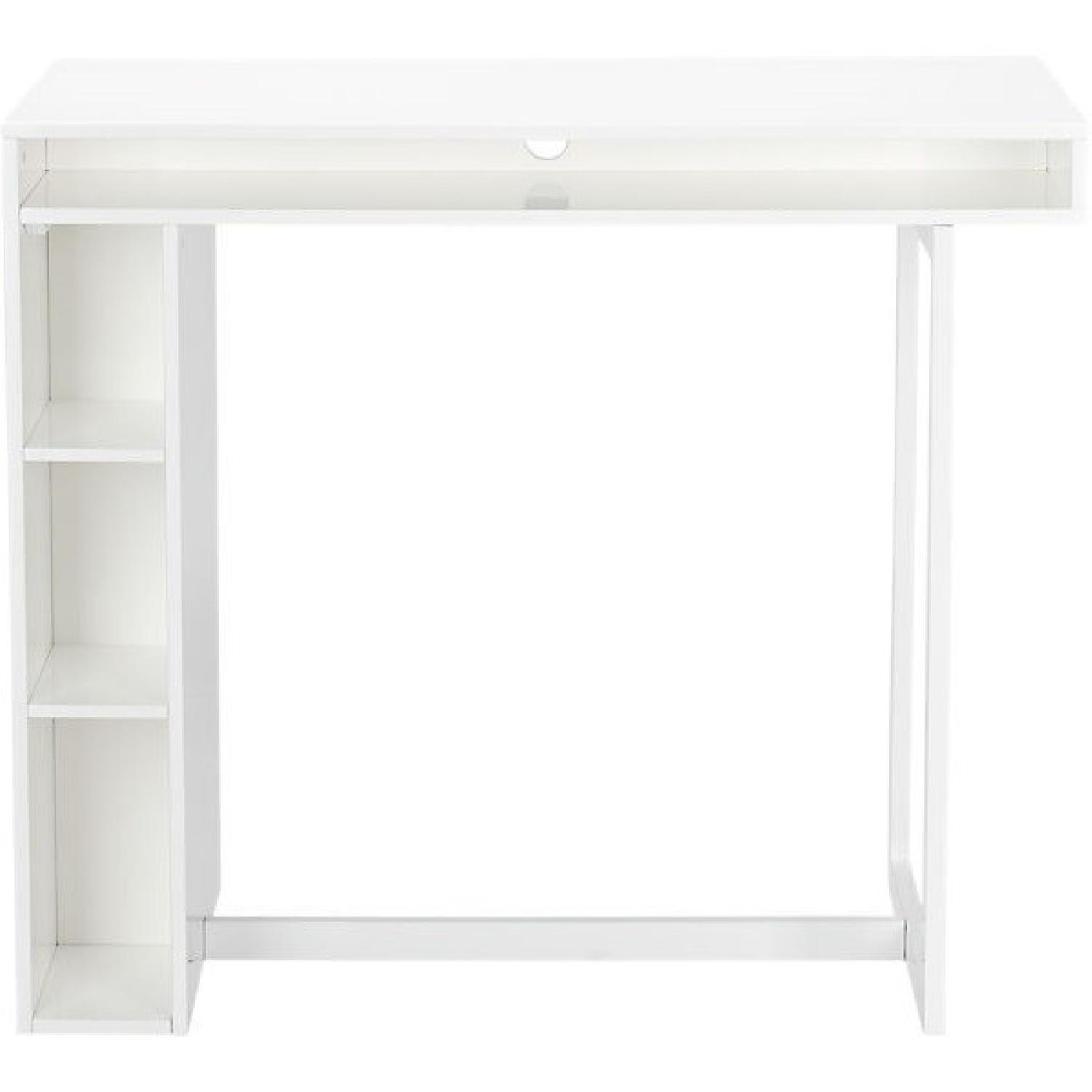 CB Chill White Mini Media Console AptDeco - Cb2 tux coffee table