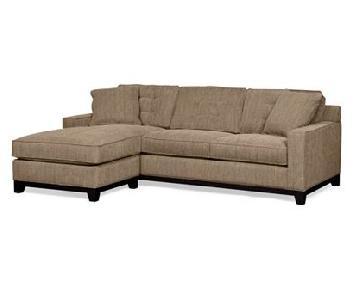 Macy's Jonathan Louis 2-Piece Tufted Sectional Sofa