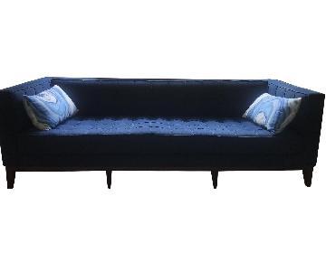 West Elm Modern Blue Tufted Sofa