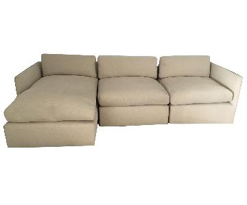 Custom Saladino Style 3-Piece Sectional Sofa