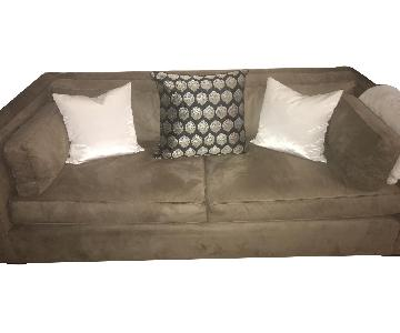 Pottery Barn Suede Sofa