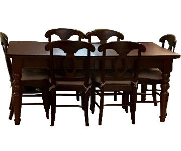 Pottery Barn Mahogany Dining Table w/ 6 Chairs
