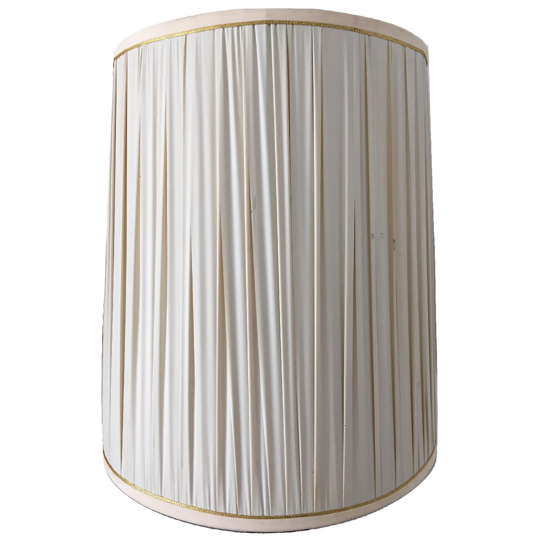 Vintage Metal Gray Glass Globe Hollywood Regency Style Lamp - image-5