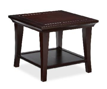 Pottery Barn Metropolitan Cube Tables in Mahogany