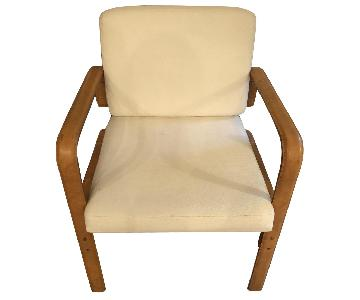Ralph Lauren Canvas/Leather Accent Chair