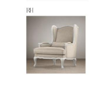 Restoration Hardware Lorraine Upholstered Arm Chair