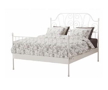 Ikea Leirvik White Full Size Bed Frame