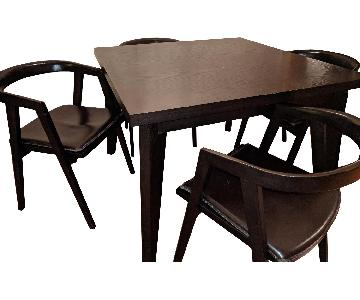 West Elm Angle Leg Table w/ 4 Dining Chairs