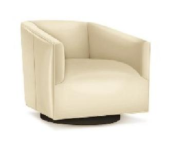 Mitchell Gold+Bob Williams Cooper Leather Full Swivel Chair