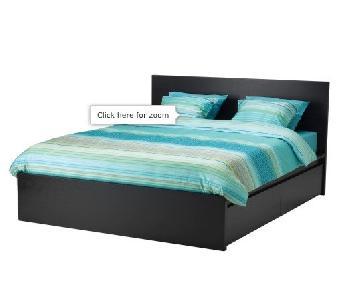 Ikea Malm Full Bed Frame w/ 2 Storage Boxes & Slats