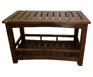 Wood Coffee Table w/ Shelf