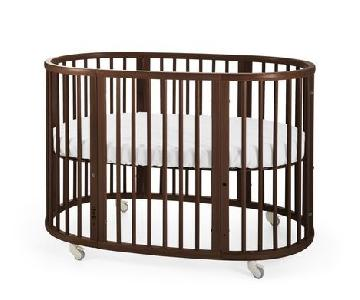 Stokke Sleepi Walnut Crib w/ Junior Extension Set
