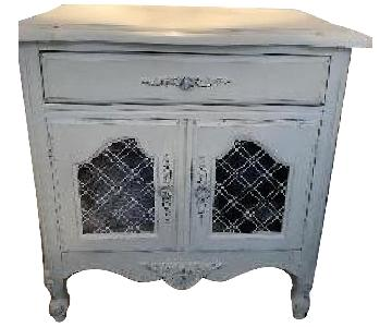 Antique White Nightstand