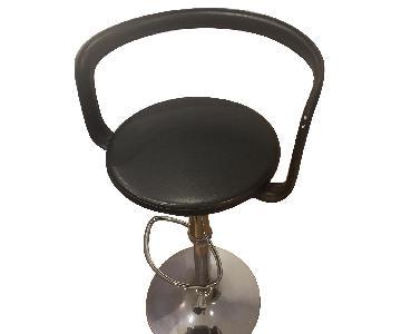 Black & Metal Adjustable Barstools