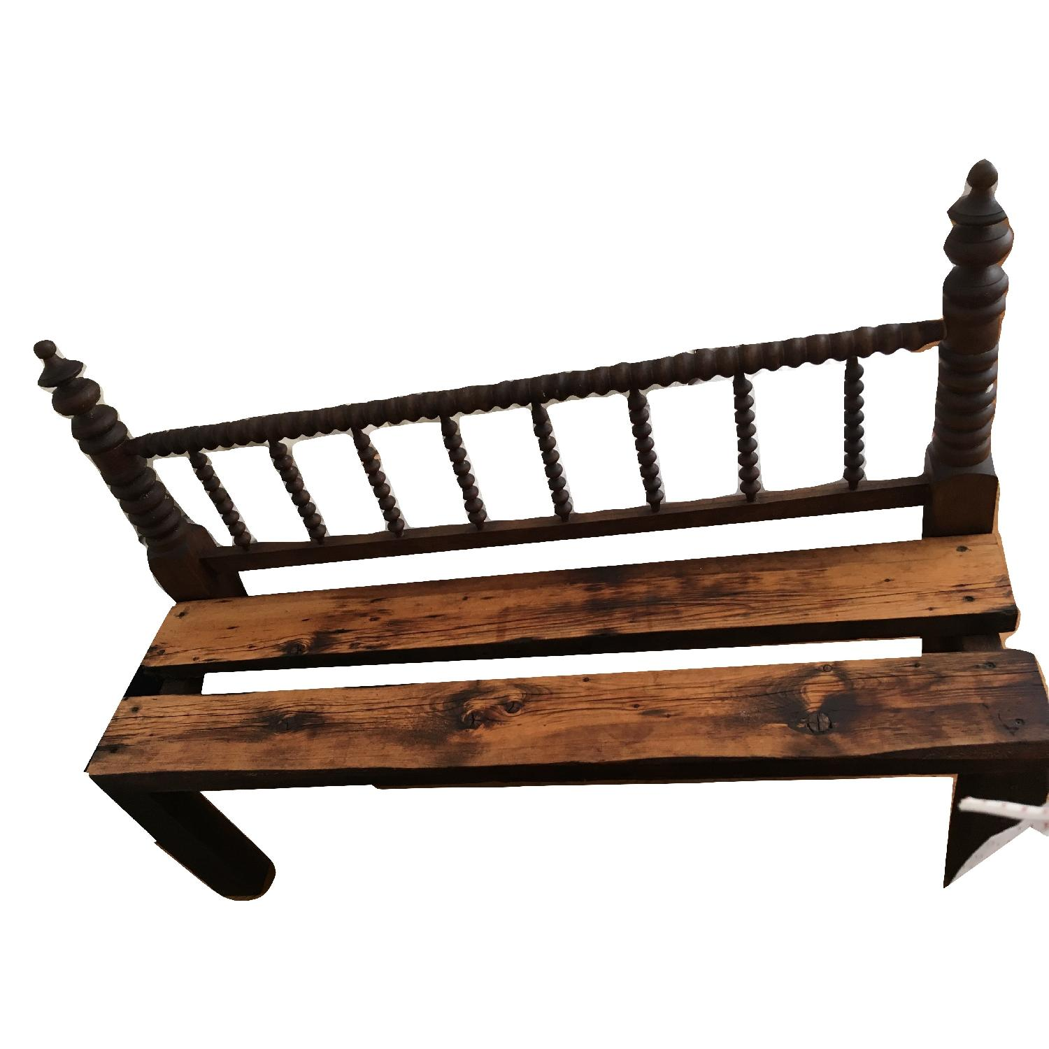 Antique Indoor Outdoor Patio Headboard Bench
